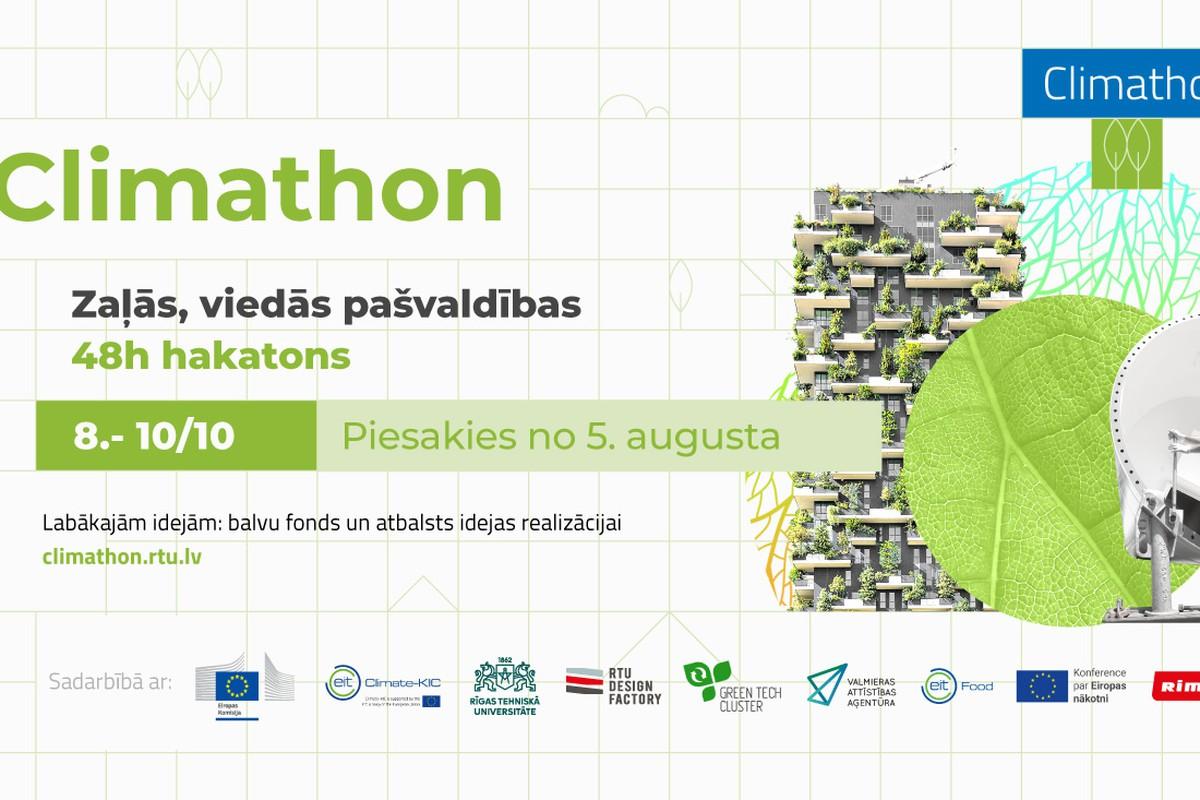 Hakatons 'Climathon 2021 – zaļās, viedās pašvaldības'