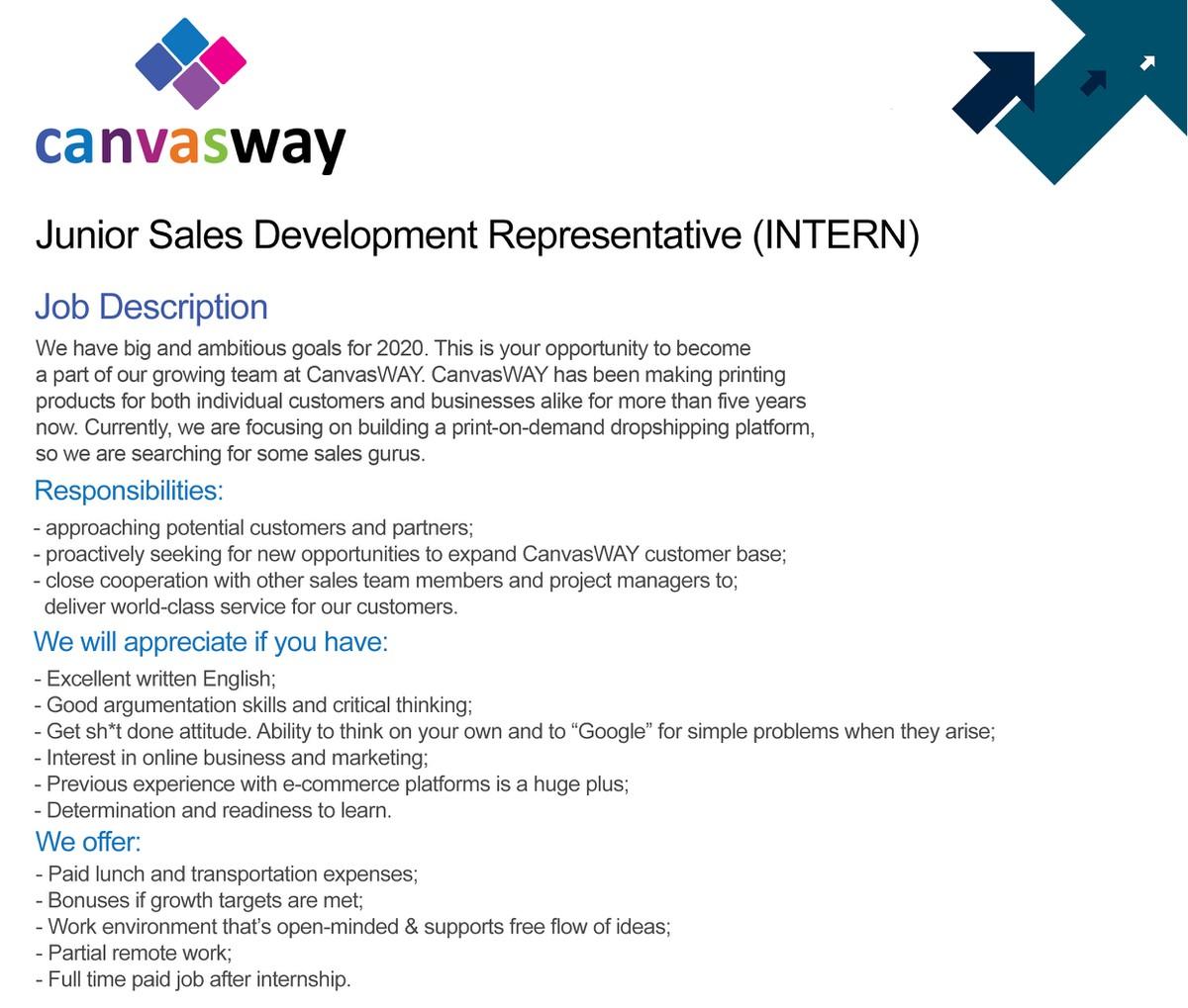Junior Sales Development Representative [PAID INTERNSHIP]
